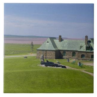 Canadá, Nuevo Brunswick, Aulac. Fuerte el Cumberla Azulejo Cuadrado Grande