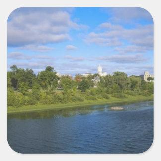 Canadá, Nuevo Brunswick, Fredericton, opinión de Pegatina Cuadrada