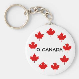 CANADA O CANADA BASIC ROUND BUTTON KEYCHAIN
