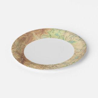 Canadá occidental plato de papel de 7 pulgadas