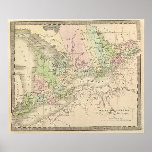 Canadá occidental póster