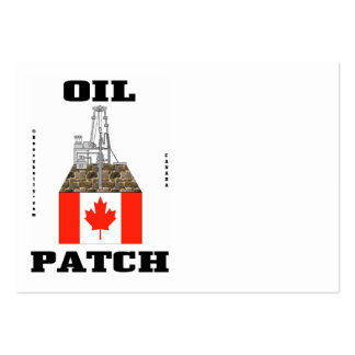 Canada Oil Patch,Business Cards,Oil,Rig,Flag