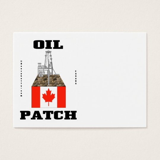 Canada Oil Patch,Business Cards,Oil,Rig,Flag Business Card