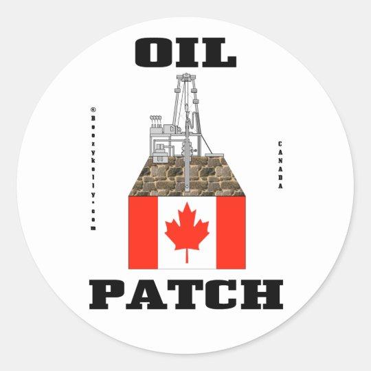 Canada Oil Patch,Sticker,Oil,Gas,Oil Field Gift Classic Round Sticker