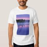 Canada, Ontario, Algonguin Park, Canoeist on T Shirt