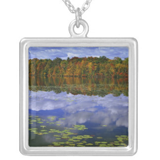 Canada, Ontario. Autumn color reflects in Park Necklaces