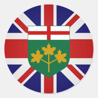 Canada Ontario High quality Flag Classic Round Sticker