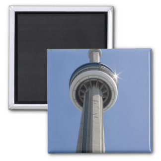 Canada, Ontario, Toronto. Top of CN Tower with 2 Inch Square Magnet