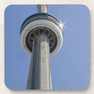 Canada, Ontario, Toronto. Top of CN Tower with Beverage Coasters