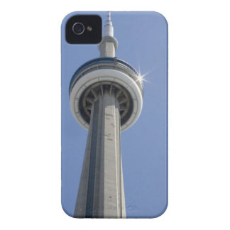 Canada, Ontario, Toronto. Top of CN Tower with iPhone 4 Cover
