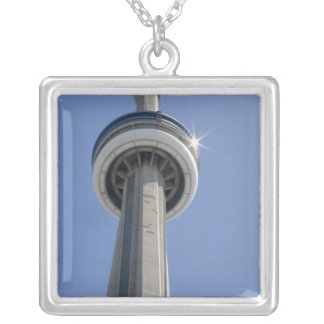Canada, Ontario, Toronto. Top of CN Tower with Silver Plated Necklace