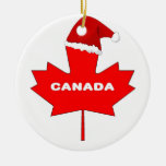 Canada Double-Sided Ceramic Round Christmas Ornament