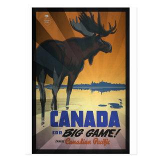 Canadá para el poster del viaje del vintage del gr tarjetas postales