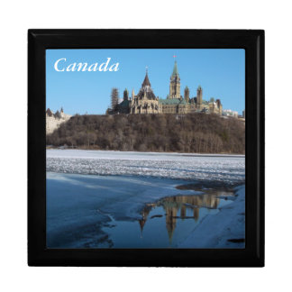 Canada Parliament Buildings View from Ottawa River Keepsake Box