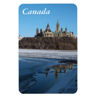 Canada Parliament Buildings View from Ottawa River Magnet