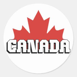 Canadá Etiqueta Redonda