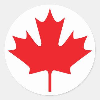 Canadá Etiquetas Redondas
