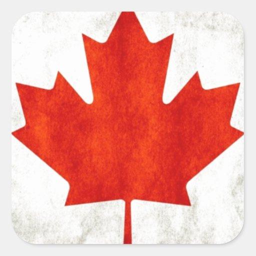 Canadá Pegatina Cuadrada