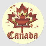 Canadá Pegatina Redonda