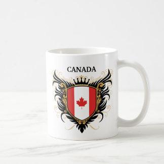 Canadá [personalice] taza básica blanca