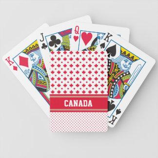 Canadá personaliza al canadiense blanco rojo único baraja cartas de poker