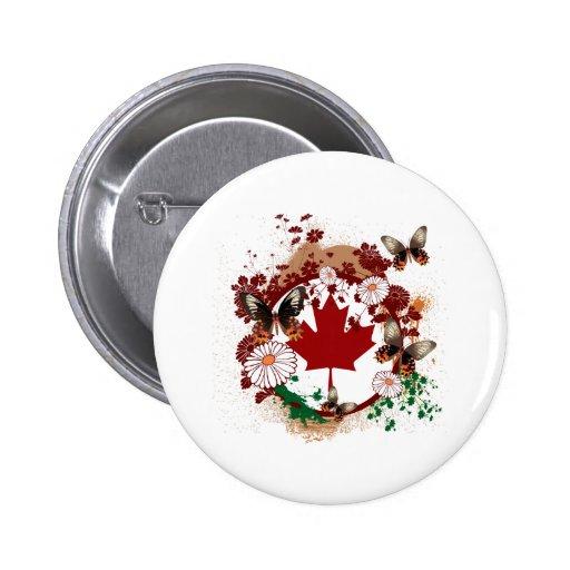 Canadá Pin Redondo 5 Cm
