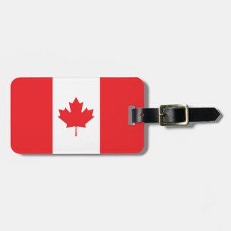 Canada Plain Flag Bag Tag