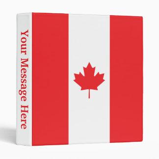 Canada Plain Flag Binder