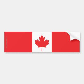 Canada Plain Flag Car Bumper Sticker