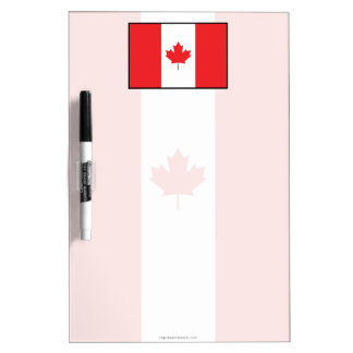 Canada Plain Flag Dry-Erase Board