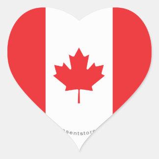 Canada Plain Flag Heart Sticker