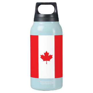Canada Plain Flag Insulated Water Bottle