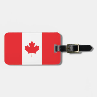 Canada Plain Flag Tags For Luggage