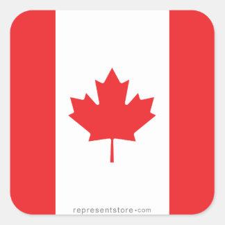 Canada Plain Flag Square Sticker