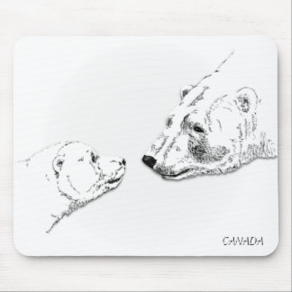Canada Polar Bear Mousepad Wildlife Art Mousepad