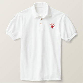 Canada Polo Shirt - Red Canadian Maple Shirt