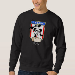 Men's Basic Sweatshirt with Canadian Pommel Horse Panda design
