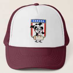 Trucker Hat with Canadian Pommel Horse Panda design
