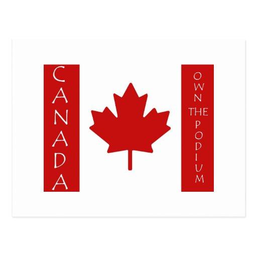 Canadá posee el podio tarjetas postales