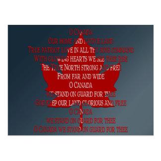 Canada Postcards Canada Anthem Souvenir Postcards