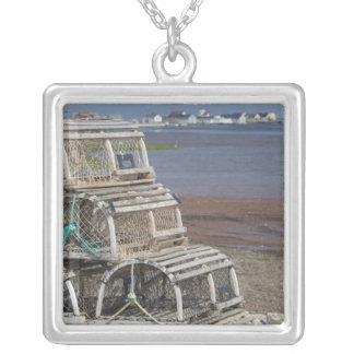 Canada, Prince Edward Island, Rustico. Lobster Silver Plated Necklace