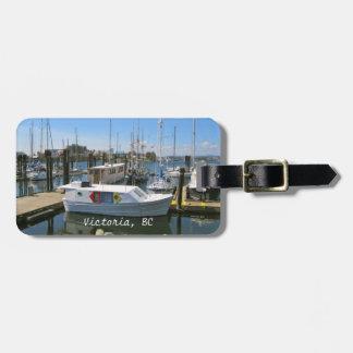 CANADÁ, puerto interno, Victoria, A.C. etiqueta de Etiquetas Para Maletas