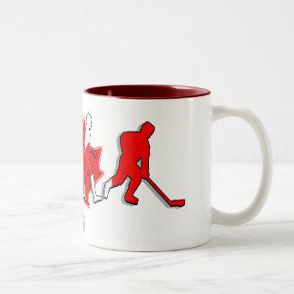 Canada pure gold ice hockey winners gifts Two-Tone coffee mug