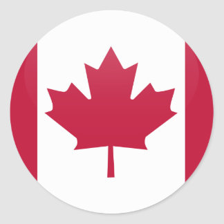 Canada quality Flag Circle Classic Round Sticker