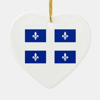 Canada Quebec Flag On Hanging Ornament