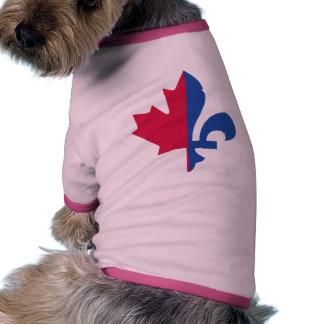 CANADA QUEBEC FLAG PET T SHIRT