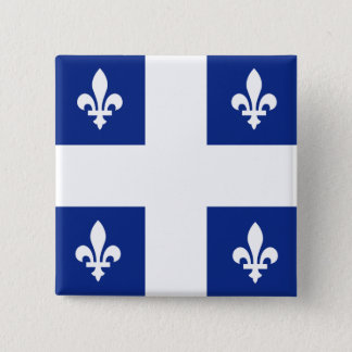 Canada Quebec High quality Flag Button