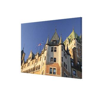 Canadá, Quebec, la ciudad de Quebec. Castillo fran Impresión En Lona