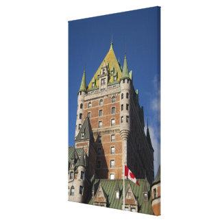 Canadá, Quebec, la ciudad de Quebec. Castillo fran Lienzo Envuelto Para Galerías