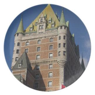 Canadá, Quebec, la ciudad de Quebec. Castillo fran Plato De Cena